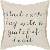 Sentiment Grateful Heart Flanged Down Pillow