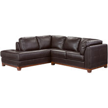 Brooklyn Brown Left Chaise Small Sectl