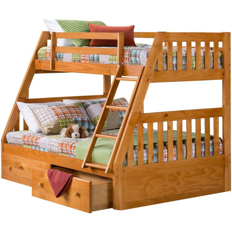 Knollwood Honey Twin/Full Bunk w/Storage