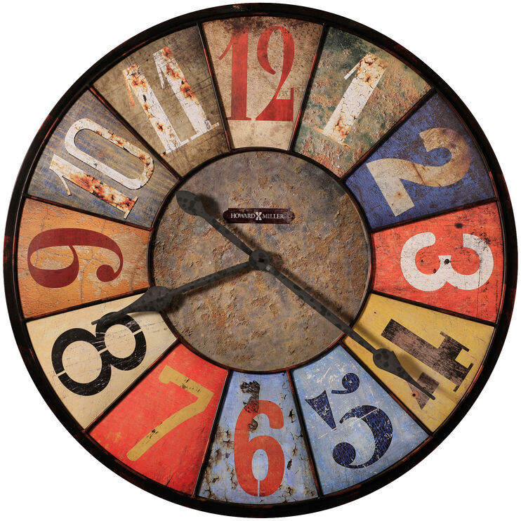 County Line Colorful Numbers Wall Clock