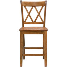 Platinum Oak 24 Inch X Back Counter Stool