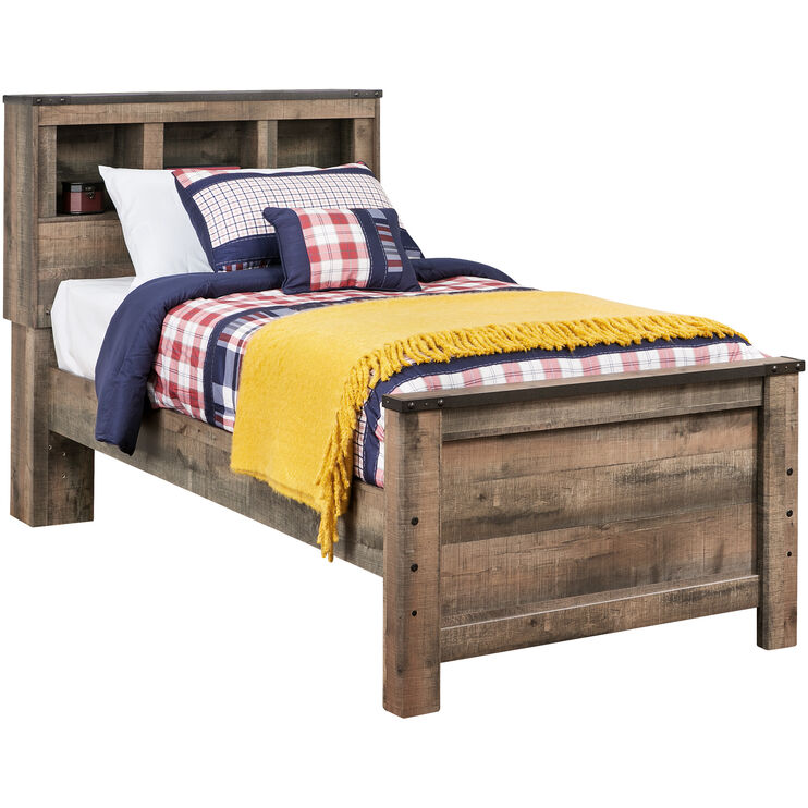 Slumberland Furniture Trinell Rustic Twin Bookcase Bed