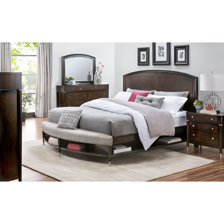 Broyhill Vibe Cherry Qn Storage Bench Bed