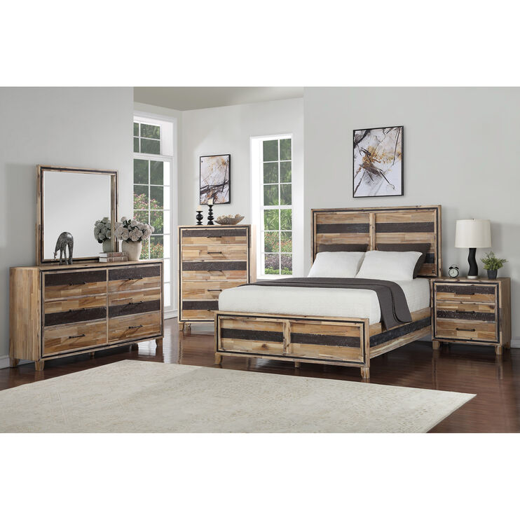 Boone Natural Queen Bed
