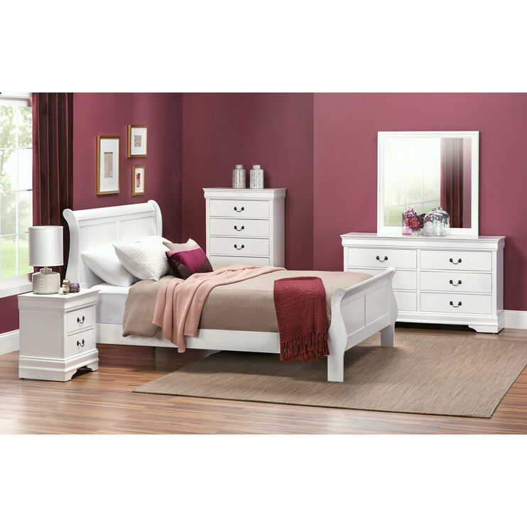 Yorkshire White Queen Bed