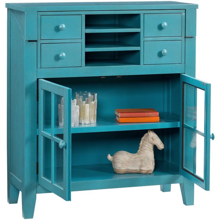 Avery Seashore Blue Flip Top Desk