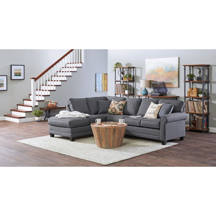 Whittier 2 Piece Gray Sectional