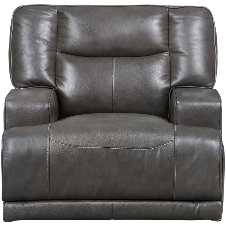 Tompkins Gray Power Recliner