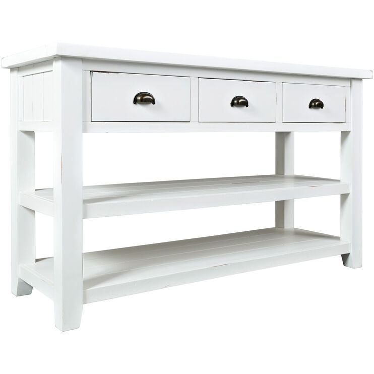 Artisans Craft White Console Table