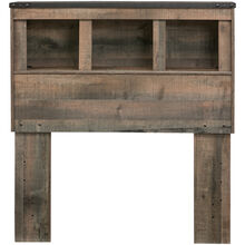 Trinell Rustic Twin Bookcase Headboard