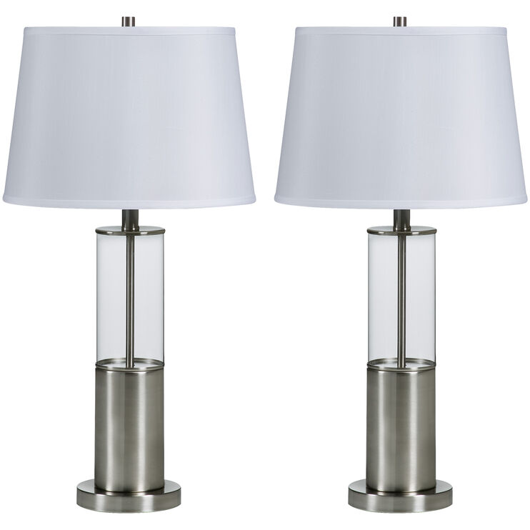 Norma Silver Set of 2 Table Lamps