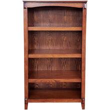 Hartford Burnished Oak 60 Inch Bookcase
