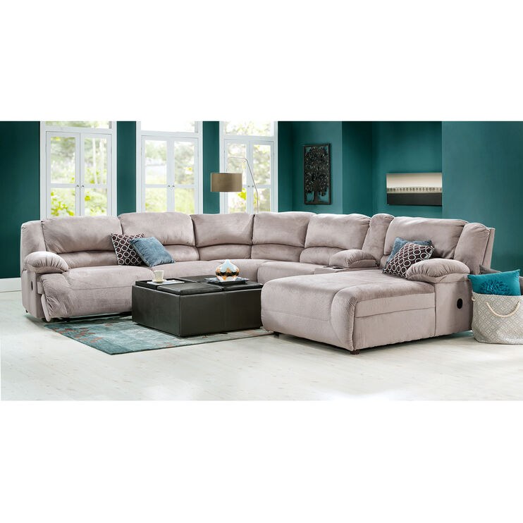 Winston 6 Pc Right Chaise Sectional