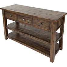 Artisans Craft Brown Console Table