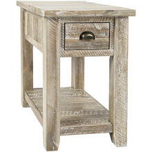 Artisans Craft Gray Wash Chairside Table