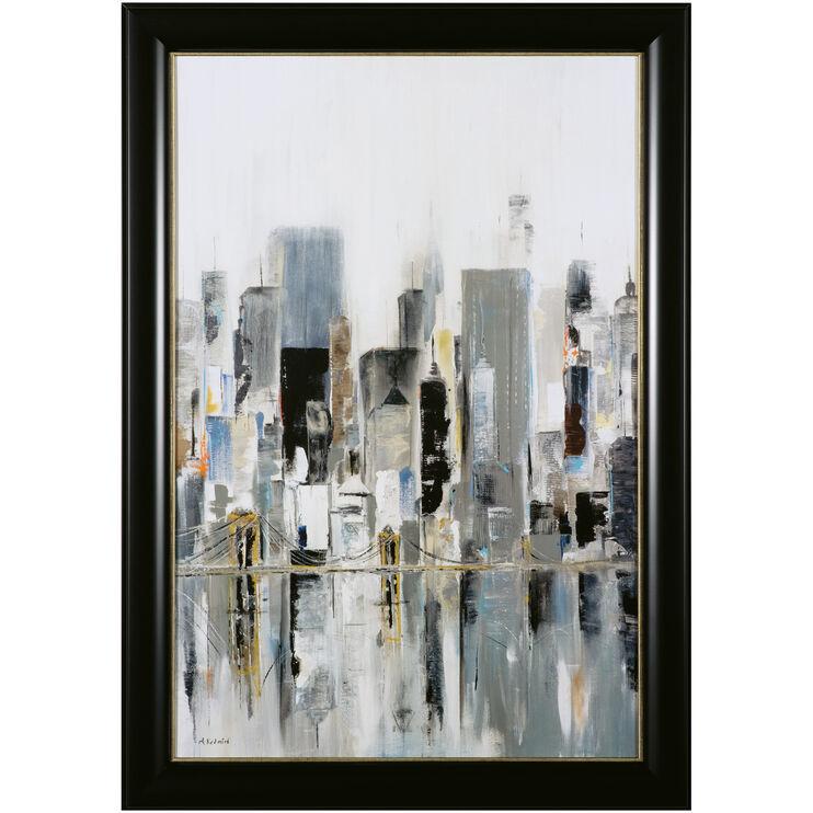 City Bridge Framed Art