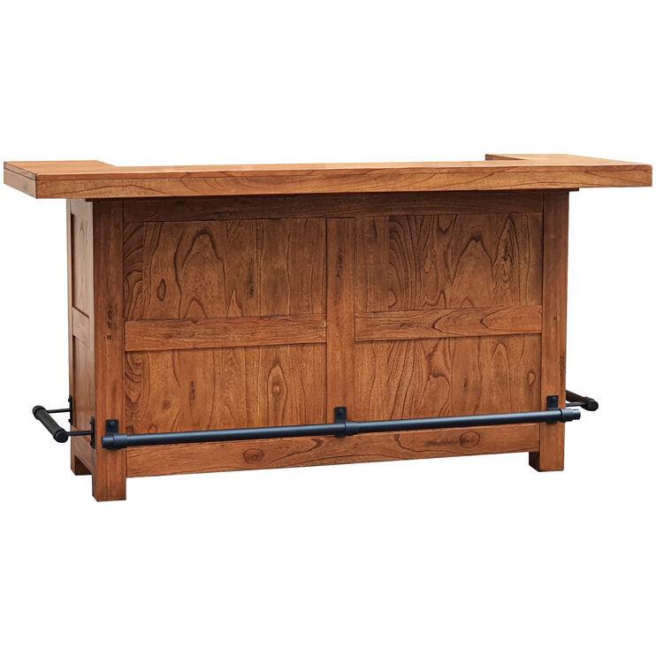 Sedona Rustic Oak Bar Set
