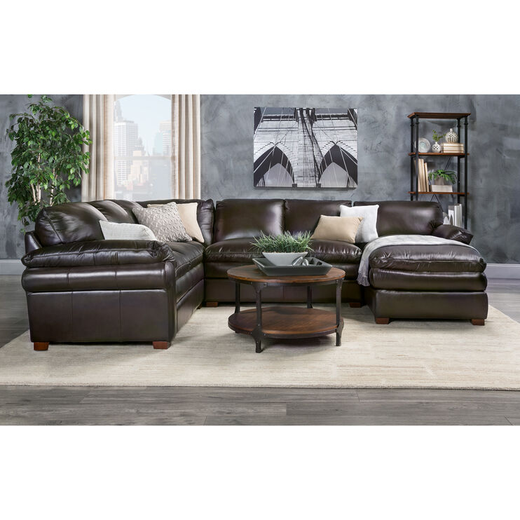 Moldova Brown Right Arm Chaise Sectl