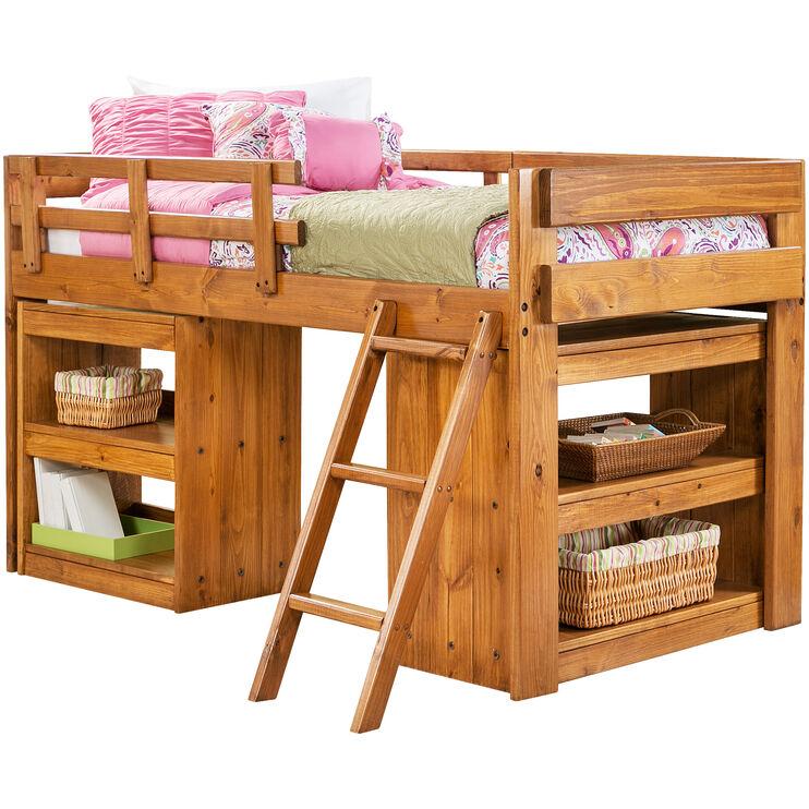 Ashville Honey Shelf Storage Loft Bed