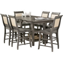 Willow 5 Piece Distressed Gray Rectangular Counter Set