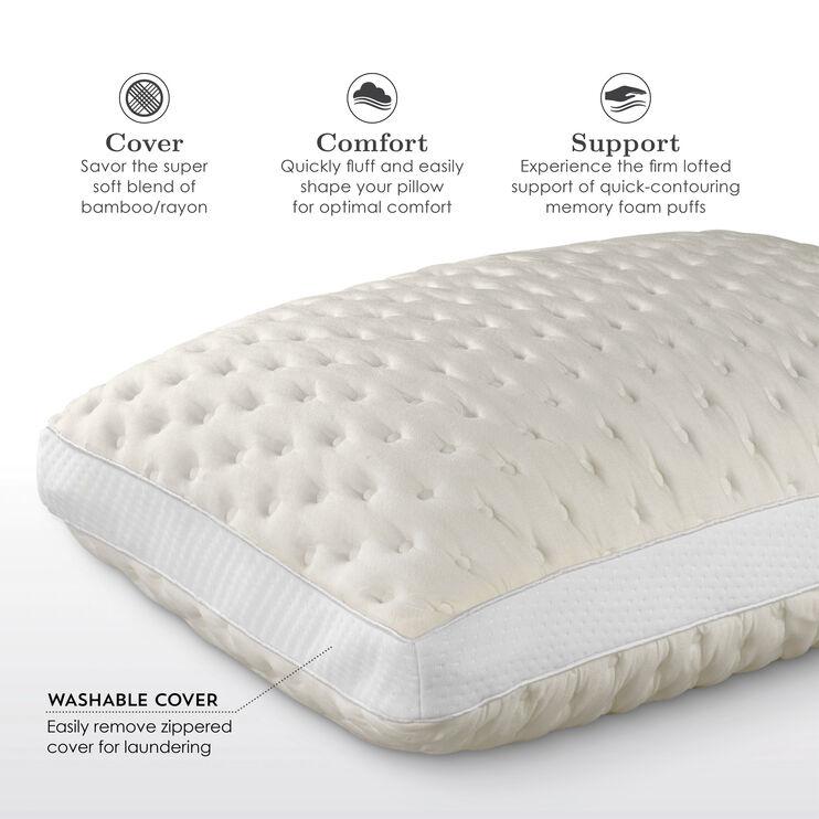 Fabrictech Beige Queen Bamboo Soft Pillow