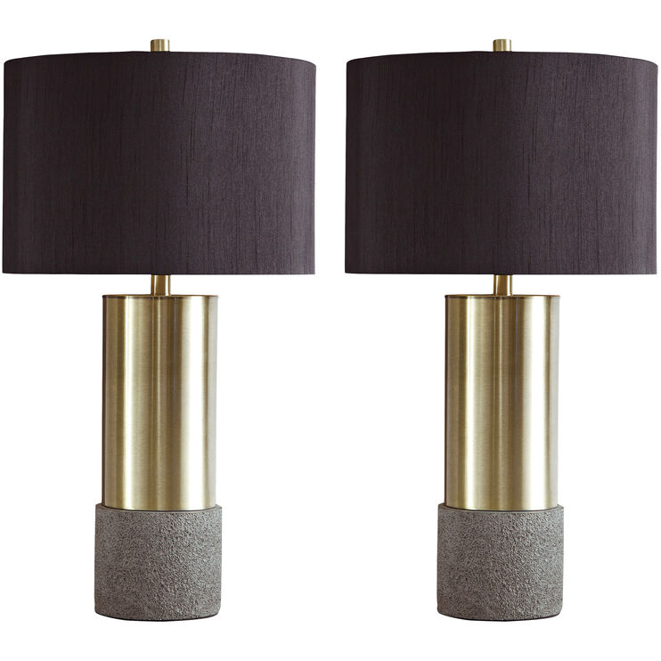 Jacek Pair of Brass Table Lamps