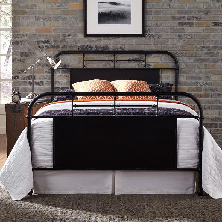 Vintage Black King Bed