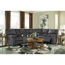 Bedford Charcoal 3 Piece Power Reclining Loveseat Sectional