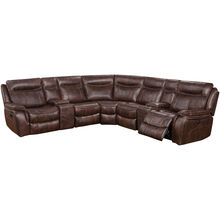 Apex Tobacco 7 Piece Power Sectional