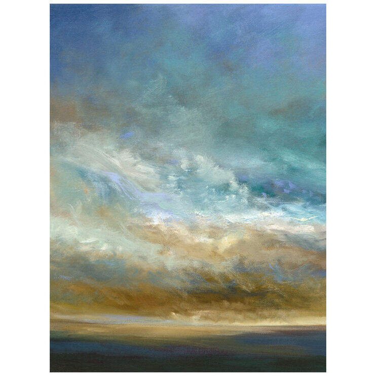 Coastal Clouds Triptych I Canvas Art