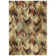 Wild Weave Distressed Multi Color Chevron 8 x 11 Rug