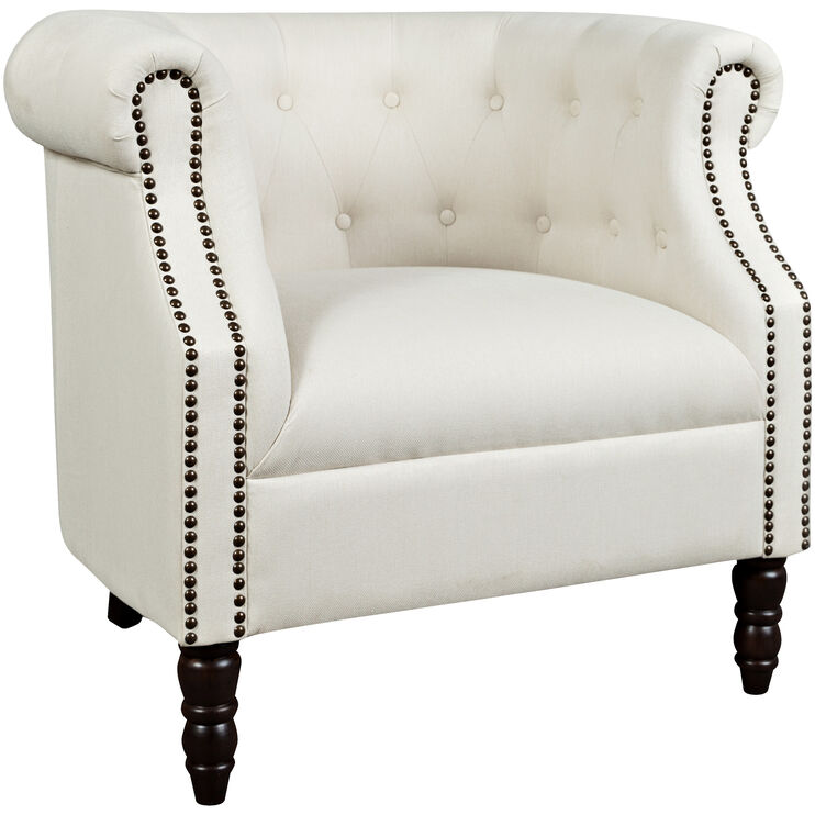 Meyersdale Ivory Tufted Tub Chair