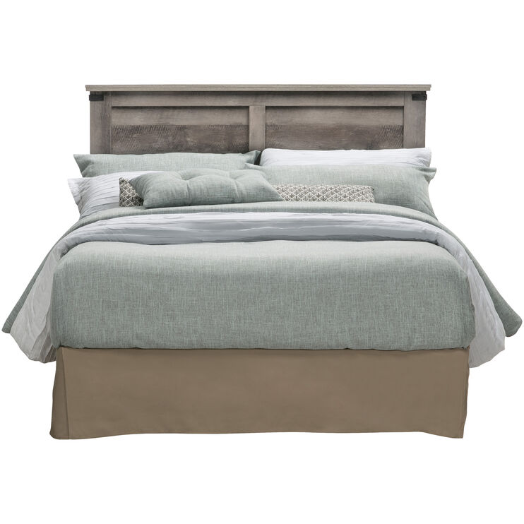 Gambrel Driftwood Full Queen Panel Headboard