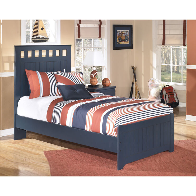 Leo Blue Twin Panel Bed
