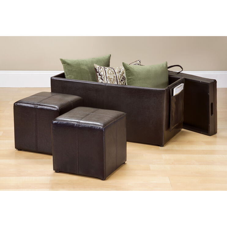Brenton Storage Bench with Ottomans
