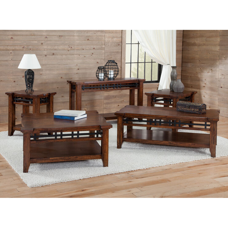 Whistler Retreat Dark Walnut Chairside Table