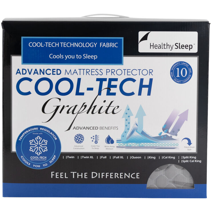 CoolTech Graphite Mattress Protector