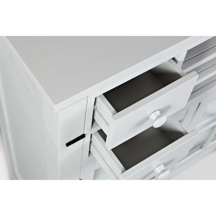 Avery Dove Gray Flip Top Desk