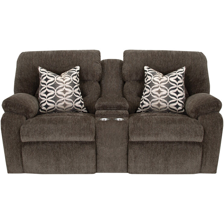 Nome Gray Recl Console Loveseat