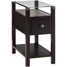 Diamenton Black Chairside End Table