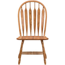 Jefferson Oak Curved Arrow Side Chair