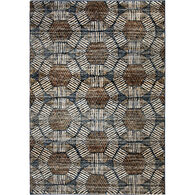 Aria Textured Penny Blue 5x8 Rug
