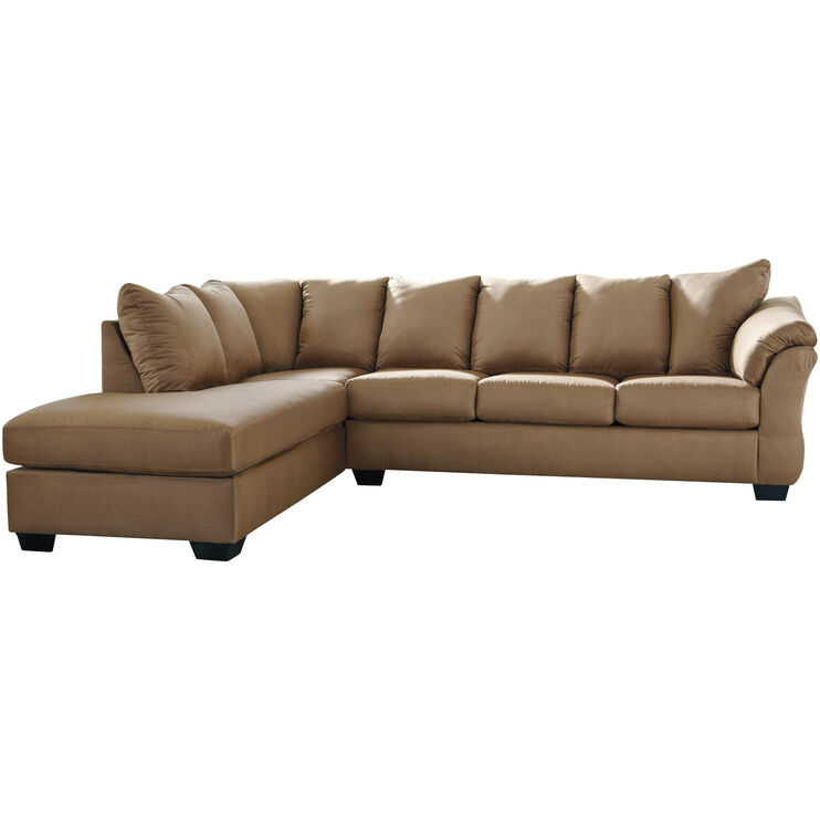 Marcy Mocha Left Chaise Sectional