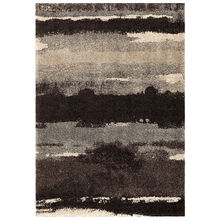 Wild Weave Canyon Slate Gray Abstract Stripes 5 x 8 Rug