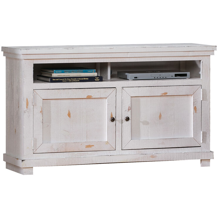 Willow Distressed White 54 Inch Console