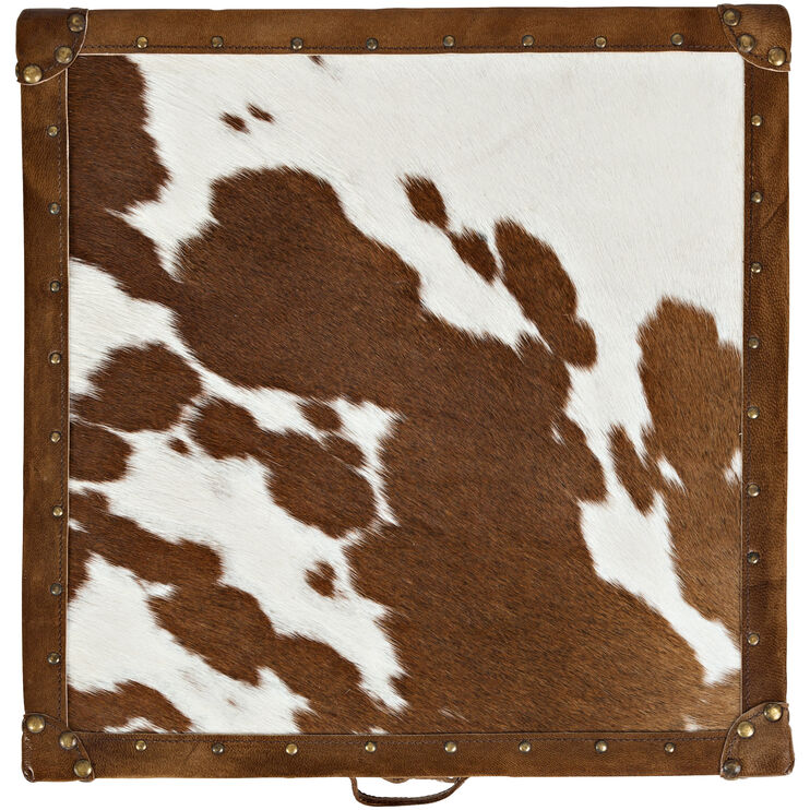 Global Archive Cow Hide 3 Drawer Cowhide Chest