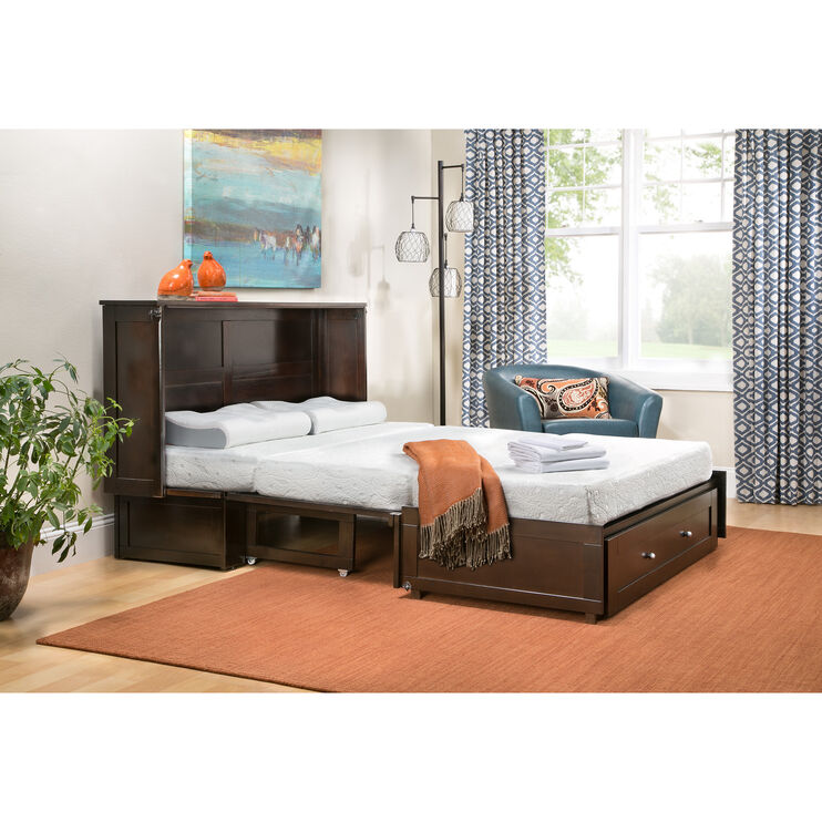 Clover Chocolate Murphy Cabinet Bed