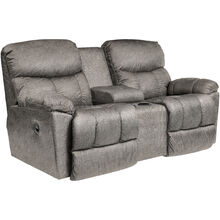 Morrison Silver Reclining Console Loveseat
