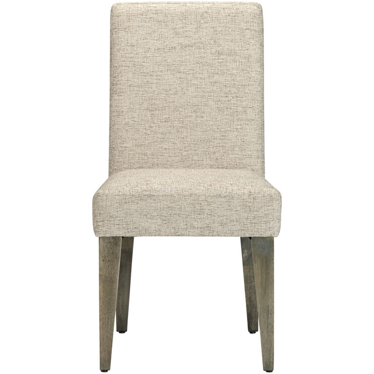 Uptown Mist Gray Upholstered Side Chair