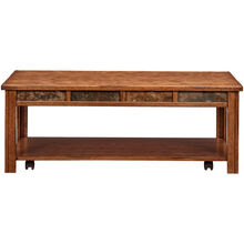 Evanston Antique Oak Rustic Coffee Table